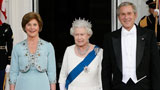 The Queen with President Bush and First Lady