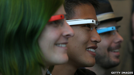People wearing Google Glass