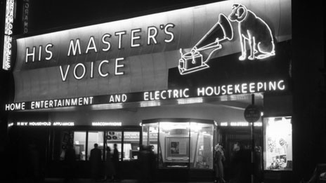 HMV's first store at 363 Oxford Street