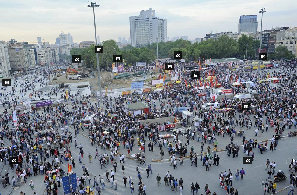 Bbc news taksim square protests photographic tour