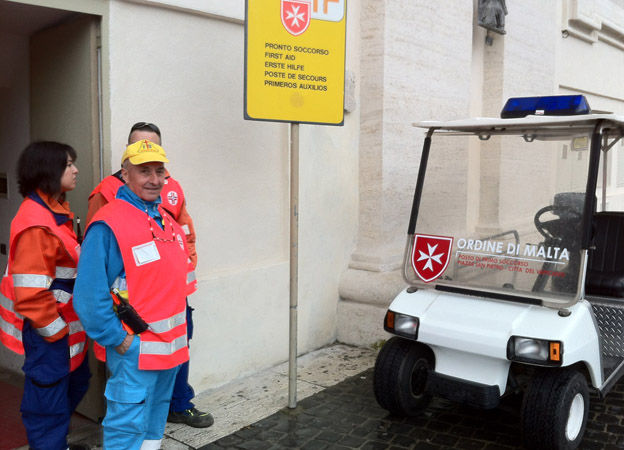 Knights of Malta first aid post