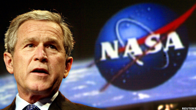 In 2010, the space shuttle, after nearly 30 years of duty, will be retired from service. President George W Bush