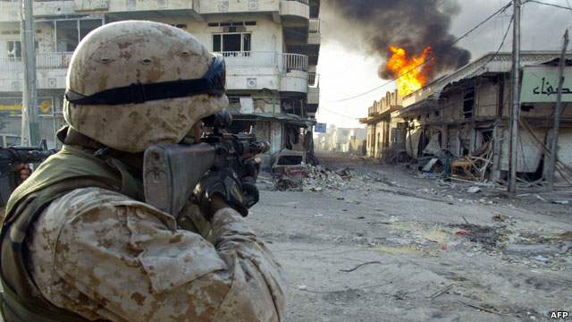 As American troops engage in street to street battles with Iraqi insurgents in Falluja, life for residents trapped in the city is becoming unbearable.