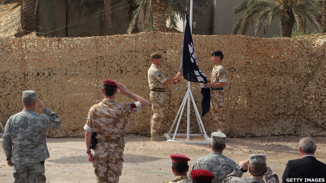 A ceremony has been held to mark the end of British military operations in Iraq after six years.