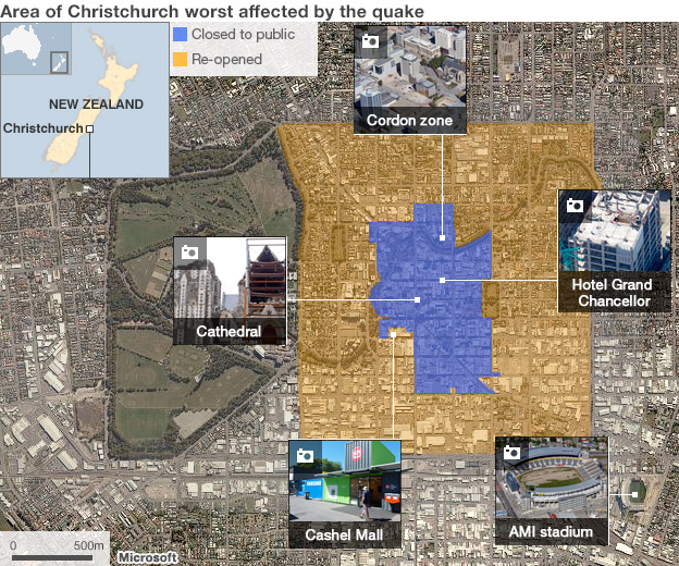 Interactive map of Christchurch