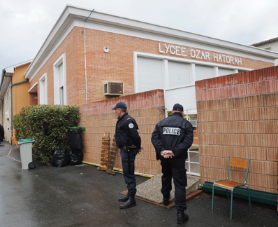 Police outside Jewish school