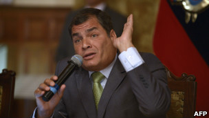 Presidente do Equador Rafael Correa (foto: AFP)
