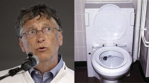 Bill Gates and a toilet