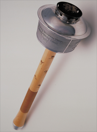 Photo: The torch design for the 1988 Winter Olympic Games
