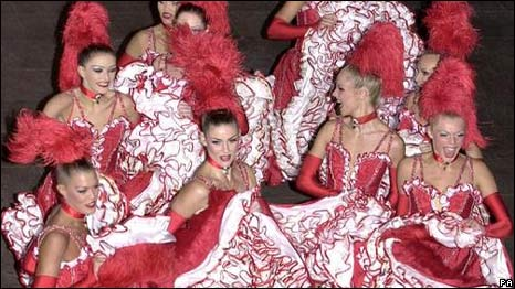 Cancan dancers in France