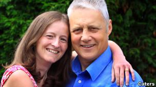O casal britânico George Maciver e Tina Lear.
