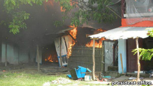 Houses Burning Down in Maung Daw
