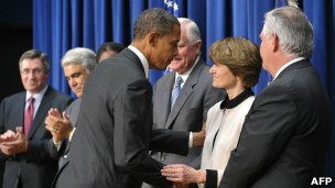Sally Ride dan Barack Obama