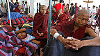Monks at hospital