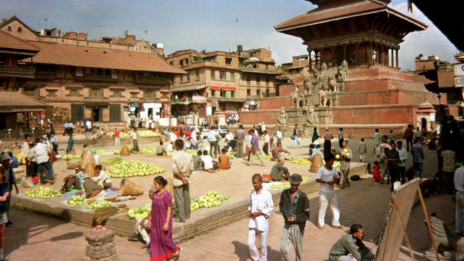 A market in the center of Baktapur