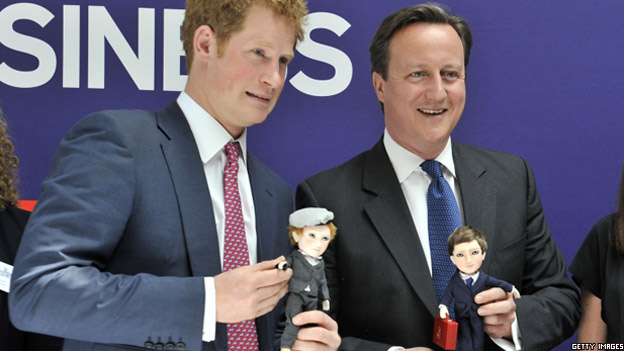 Lifelike dolls of David Cameron and Prince Harry
