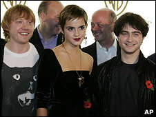 Los protagonistas de Harry Potter