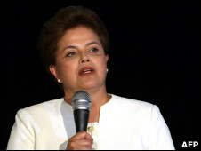 A candidata Dilma Rousseff (PT)