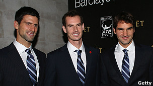 Djokovic, Murray y Federer
