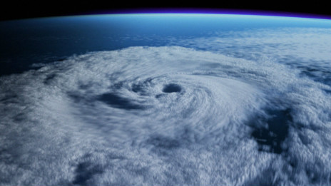 A satellite view of a superstorm