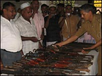 Weapons were handed over to Police