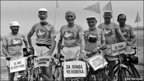 Велопробег советских пенсионеров. Фото РИА Новости