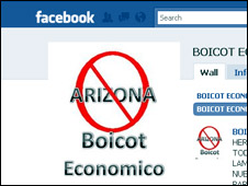 Boicot a Arizona en Facebook