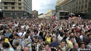 Anti-Putin protest in Moscow