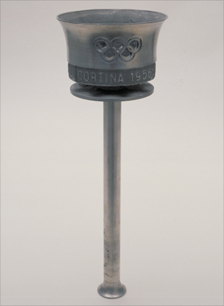 Photo: The torch design for the 1956 Winter Olympic Games