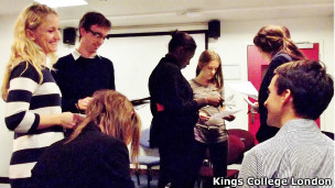 Aula de portugues no Kings College London (Foto Divulgação)
