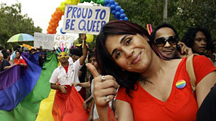 A march by gay activists (file photo)