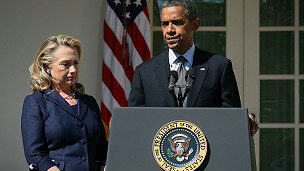 Hillary Clinton dan Obama
