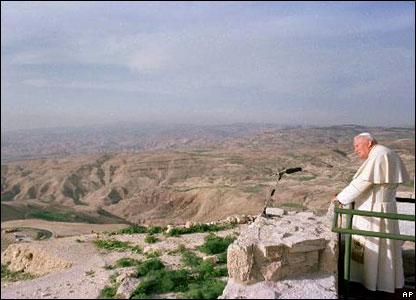 البابا على جبل نبو