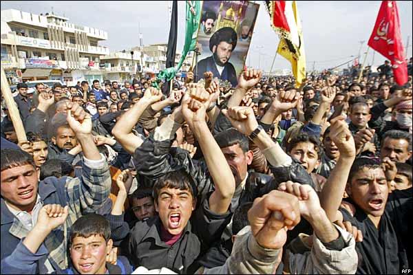 احتجاجات في مدينة الصدر