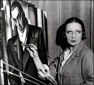 Tamara de Lempicka em seu est�dio, em 1924