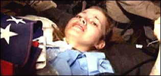 Pobre menina americana, vitima dos... iraquianos?