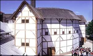 O Globe Theatre, local de trabalho do bardo