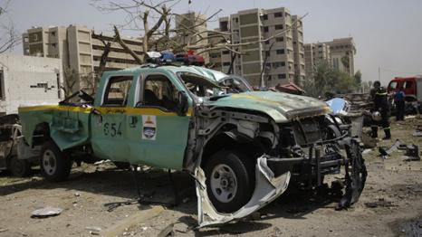 احد المصابين في الانفجار الذي استهدف وزارة الخارجية