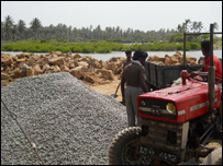 Construction work in Kalpitiya for a new tourism zone (file photo)