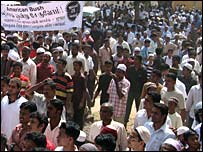Muslims in Sri Lanka protested the execution of Saddam Hussein (file photo)