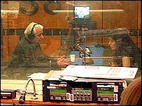 Леонід Кравчук у студії Бі-Бі-Сі в Лондоні