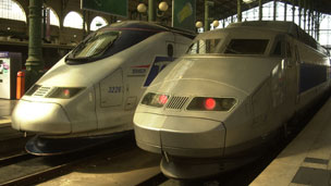 High-speed TGV trains