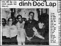 Hình từ Bảo tàng Cách mạng TPHCM đăng trên một tờ báo Việt Nam tháng Tư 1995