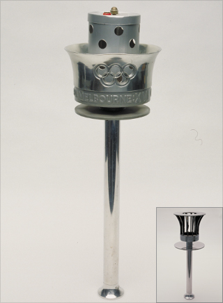 Photo: The torch design for the 1956 Summer Olympic Games