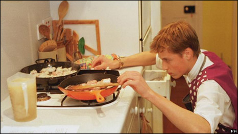 Prince William cooking