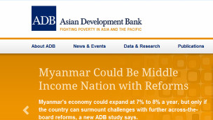 ADB says Myanmar could be middle income nation with reforms