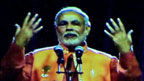 Hologram of India's prime minister, Narendra Modi