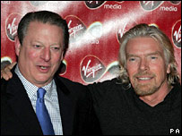 Al Gore (esq.) e Richard Branson