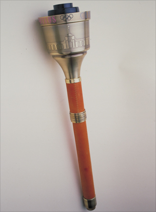 Photo: The torch design for the 1984 Summer Olympic Games