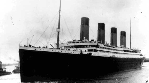The Titanic leaving Southampton, England on her maiden voyage.